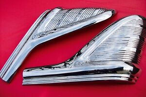 1955 Mercury 2 Or 4 Dr Rear Qtr door Trim L and R restored Mint wow