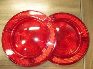 60 72 International Scout 80 800 Tail Light Lens Pair New Made In U S A Gb 2400