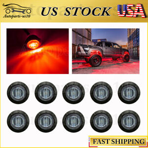 10x Smoked Lens Red 3 4 Led Rock Light For Jeep Atv Ford F350 Underbody Light