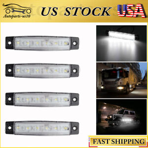4pcs White 3 8 Side Marker Light For Jeep Motorhome Truck Bed Indicator Lamp Us