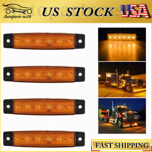 For Rv Motorhome Truck Ford F350 Amber 4pcs 3 8 Led Side Marker Light 12v Us