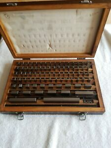 Hdt Inc Fed Grade B Gage Block Set Of 81 Pieces With Wooden Storage Case