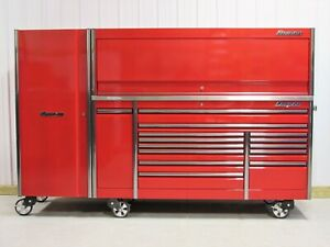 Snap On Candy Apple Red 84 Epiq Tool Box Stainless Top Hutch