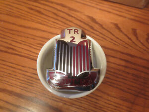 Vintage New Metal Triumph Tr2 Front Apron Badge Exterior Emblem Part 601890