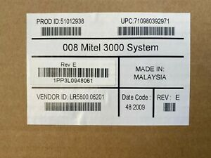 Inter tel 618 5000 Rev E New Nib Encore Cx Mitel 3000 51012938
