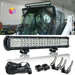 23 Led Light Bar For Skid Steer Loader New Holland Case John Deere Bobcat Gehl