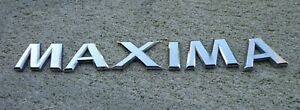Nissan Maxima Emblem Letters Badge Decal Trunk Rear Oem Factory Genuine Stock