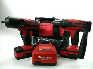 Snap On 18v Cordless Drill Impact Combo Ct7850 And Cdr8850h W 2 Battery Q5