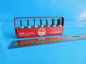 Used Mac Tools Sae short Hex Set With Tray 1 8 Thru 1 4 In 3 8 In Dr Usa