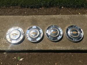 Vintage Early 1970s Set Of 4 Chevrolet Chevy Truck Blazer Dog Dish Hubcaps