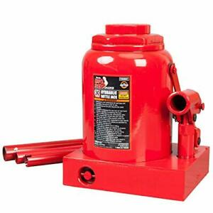 Vehicle Hydraulic Welded Bottle Jack 30 Ton Saddle Lifting Stand Automotive Tool