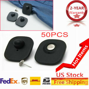 500 Mini Square Hard Tags Eas Rf 8 2 Mhz Checkpoint Compatible pin Included