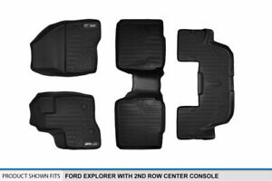 Maxfloormat 1st 2nd 3rd Floor Liner For 2011 2014 Explorer W 2nd Row Console