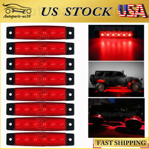 8x Red Led Rock Light For Jeep Offroad Ford Truck Trail Fender Under Body Lights