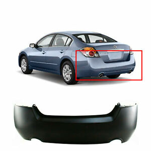 Primed Rear Bumper Cover For 2007 2012 Nissan Altima Sedan Hybrid Base Sl Sr S