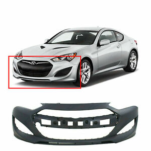 Primed Front Bumper Cover For 2013 2015 Hyundai Genesis Coupe 865112m300