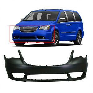 Primed Front Bumper Cover For 2011 2016 Chrysler Town Country 68088967aa
