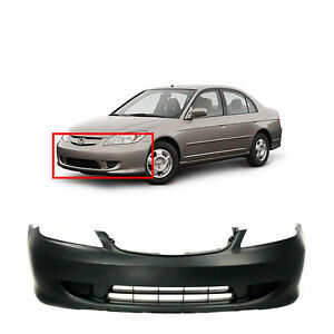 Primed Front Bumper Cover For 2004 2005 Honda Civic Sedan Coupe 04711s5aa91zz