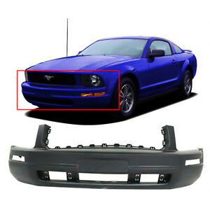 Primed Front Bumper Cover For 2005 2009 Ford Mustang 5r3z17d957aaa Fo1000574
