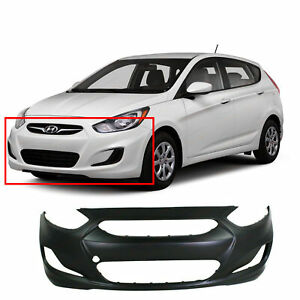 Primed Front Bumper Cover For 2012 2014 Hyundai Accent Sedan Hatchback Hy1000188