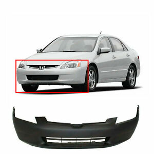 Primed Front Bumper Cover For 2003 2005 Honda Accord Dx Ex Lx Hybrid
