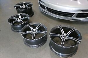 Set Of 4 Mclaren 650s Lightweight Rims Genuine Oem Forged Diamond Cut Like New