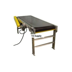 New Omni Metalcraft Powered 12 w X 30 l Belt Conveyor With 6 h Side Rails