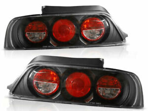 Rear Tail Lights Set For Honda Prelude 02 97 01 Clear Black Finish