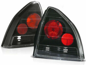 Rear Tail Lights Set For Honda Prelude 92 97 Clear Black Finish