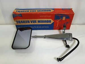 Yankee Trailer Vue Mirror Towing Truck Camper Universal Mount Chrome Single 7098