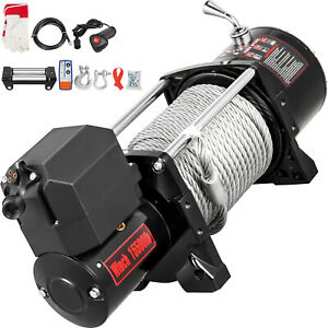 15500ibs Electric Winch 12v 93 5ft Steel Rope 4wd Atv Utv Winch Towing Truck