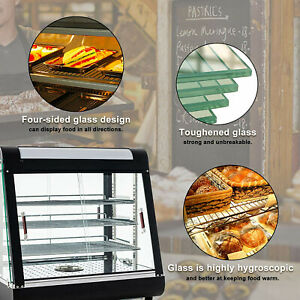 15 27 countertop Heated Pizza Display Case Commercial Food Warmer Cabinet
