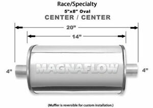 Magnaflow Perf Exhaust Stainless Race Muffler 4in In Out 14153
