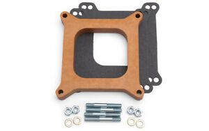 Edelbrock 3 4in Carb Spacer Wood Style 8719
