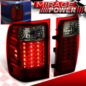 Led Smoke Red Tail Lights Lamp For 01 02 03 04 05 06 07 08 09 10 11 Ford Ranger