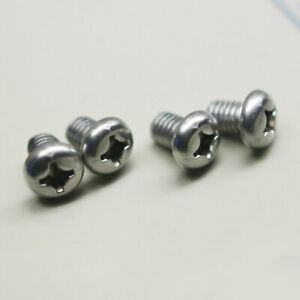 4 Stainless Steel Replacement Car Auto License Plate Screws Bolts Fits All Audi
