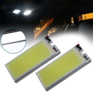 2pcs Car Bright White 36 Cob Led Xenon Hid Dome Lights Bulb Interior Panel Light