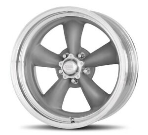 14 Inch American Racing 14x7 Torq Thrust Ii Gray Rims Wheels 5 Lug Chevy 5x4 75