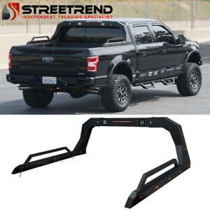 Stehlen Adjustable Truck Bed Chase Rack side Rail brake Lamp led Textured Blk S2