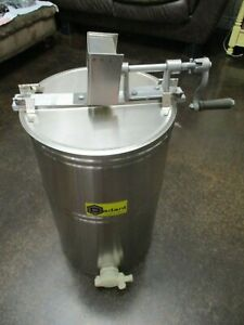 Nos Dadant Stainless Steel Junior Bench Honey Extractor Manual M00390