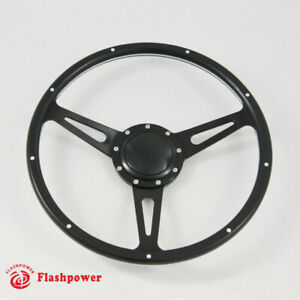 14 Black Forest Wood Steering Wheel Rivete Ford Mustang Shelby Ac Cobra Mg Mgb