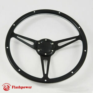 14 Black Forest Wood Steering Wheel Momo 6 Bolt Mustang Shelby W Horn Button