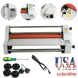 17 Digital Hot Cold Roll Laminator Single dual Sided Laminating Machine 450mm