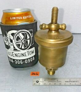 American Lubricator 2 T handle Automatic Brass Grease Cup Hit Miss Vintage 3 8