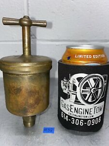 Keystone Lubricator Co T handle Automatic Brass Grease Cup Hit Miss Vintage