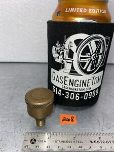 Lunkenheimer Tiger 00 Brass Screw Top Grease Cup Hit Miss Gas Engine Antique