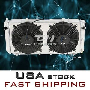 2 Row Aluminum Radiator shroud fans For Toyota Mr2 Turbo Coupe L4 2 0l 1991 1995