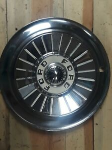 Q 4 1957 Ford Fairlane Thunderbird Ranchero Hubcaps Wheel Covers Oem Set Of 4