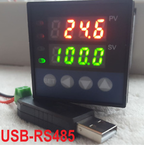 Pid Temperature Controller Recorder Data Logger Ssr Output c f Usb Rs485 Pc
