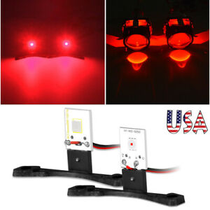 2x Red Devil Demon Eyes Led Module For Projector Lens Car Headlights Retrofit Us
